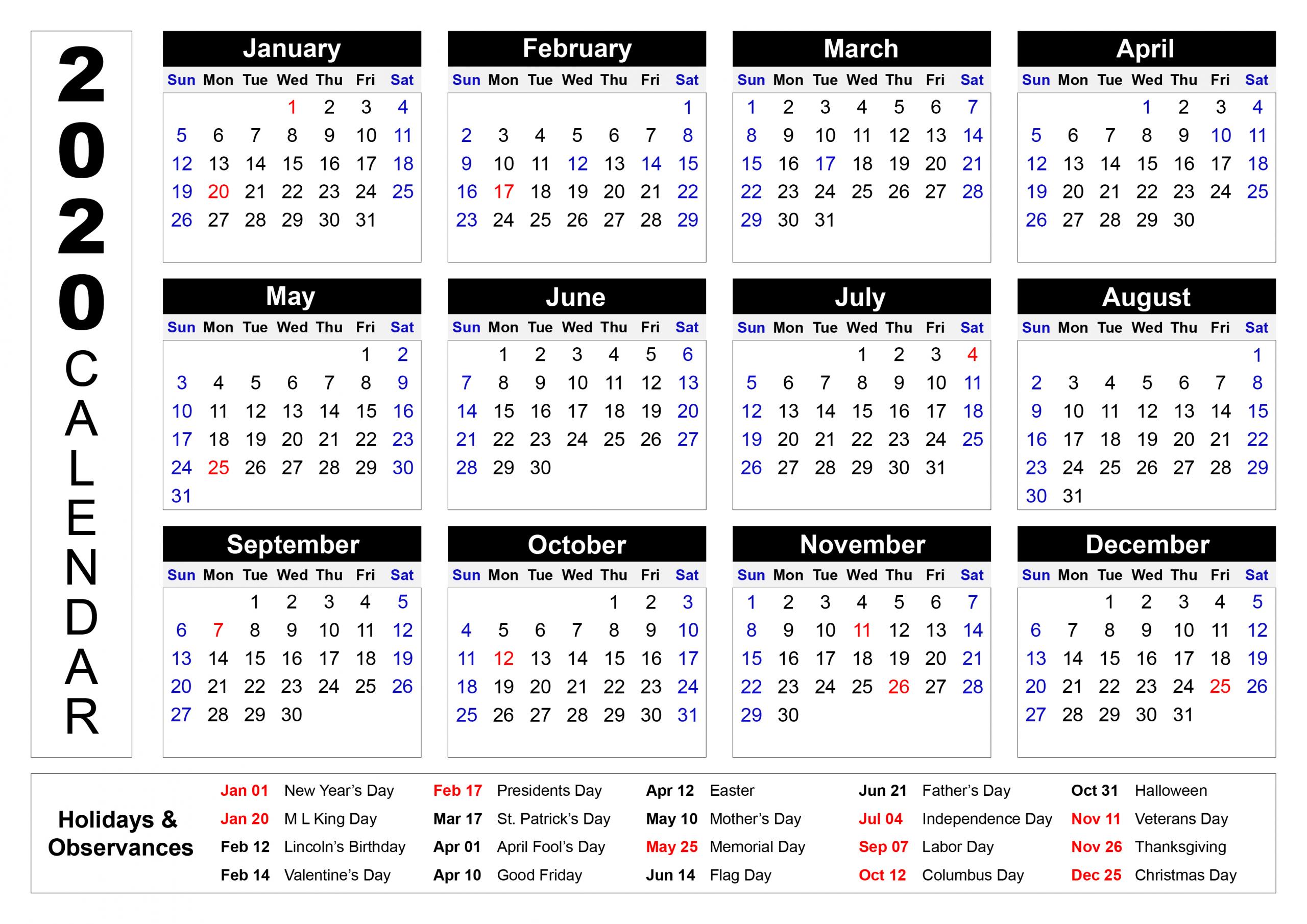 Print Calendar Select Dates   Calendar Printables Free Updateable 12 Month Calendar - Free