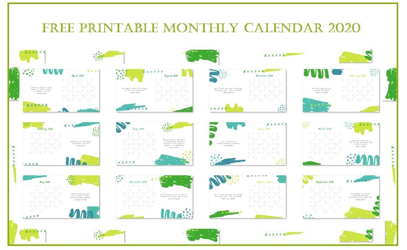 Printable 12 Months Calendar   Latest Calendar Printable And Editable 12 Month Calendars