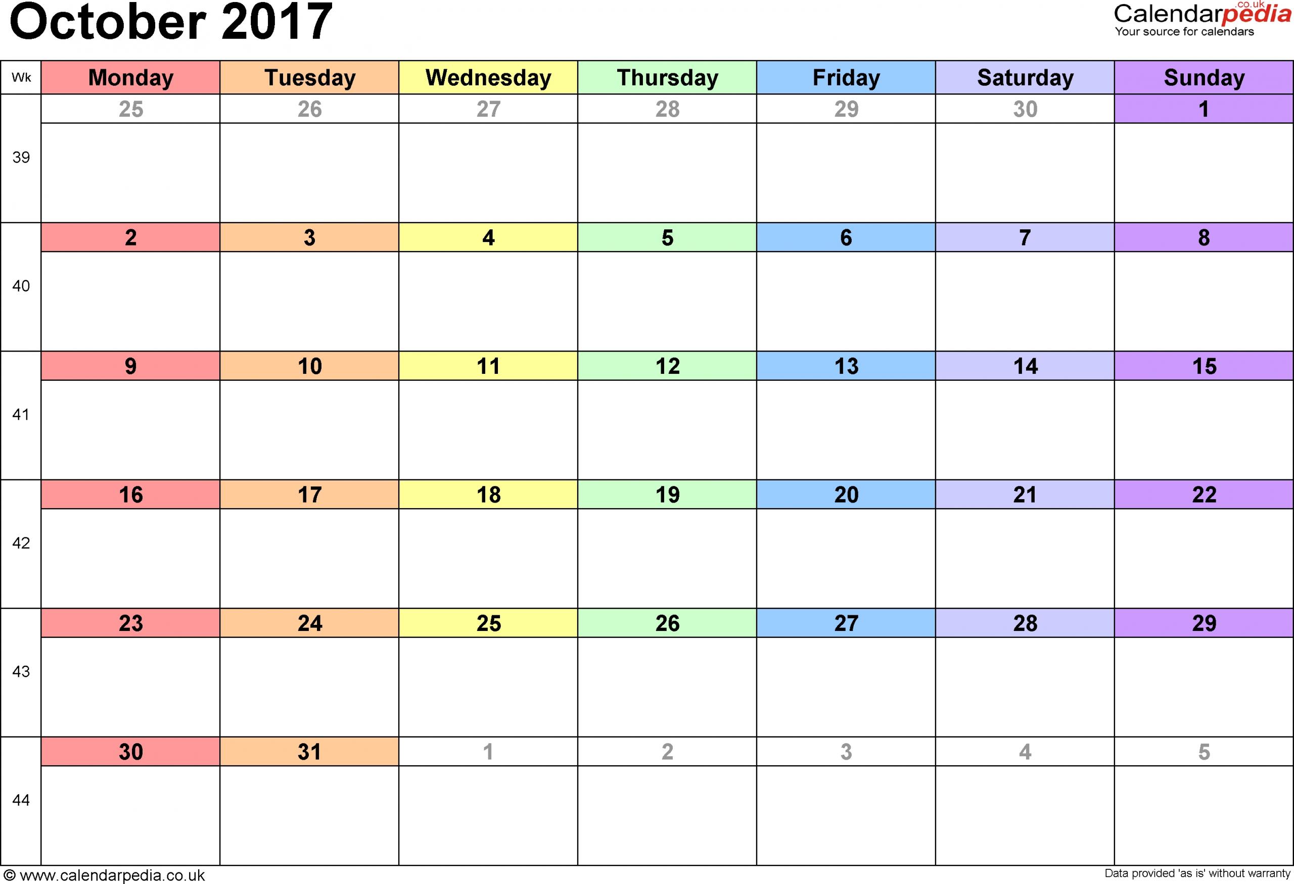 Printable 31 Day Calender | Printable Calendar Template 2020 Printable Numbers 1 - 31