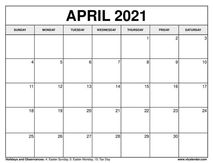 Printable April 2020 Calendars In 2020 | 2021 Calendar Printable 2020 Calendar Free Saturday To Friday