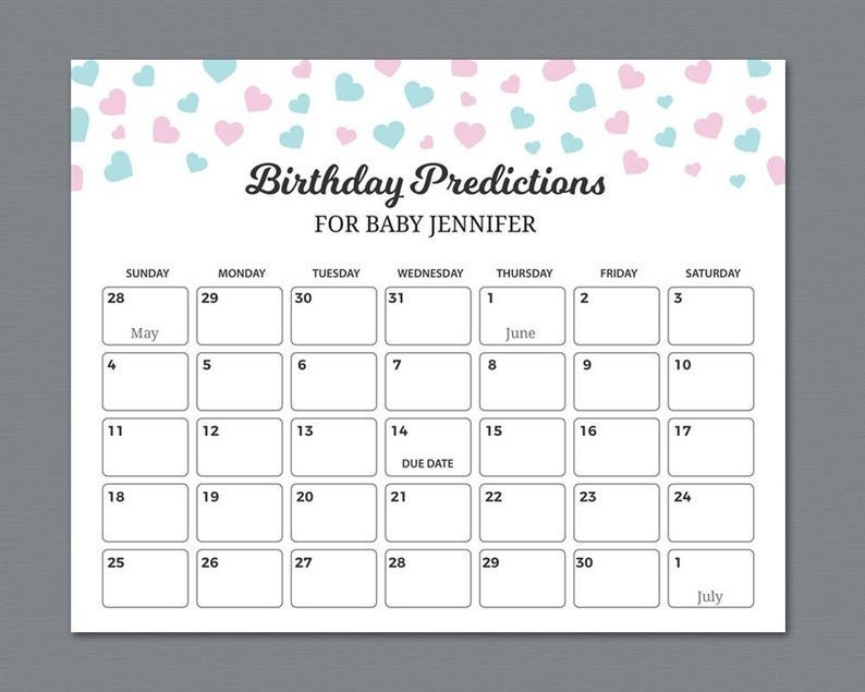 Printable Baby Due Date Calendar Graphics | Calendar Calendar Templates For Baby Due Date