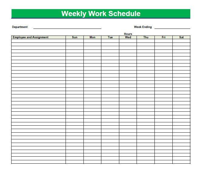 Printable Blank Pdf Weekly Schedules | Blank Pdf Weekly Freee Printable Hr By Hr Schedule