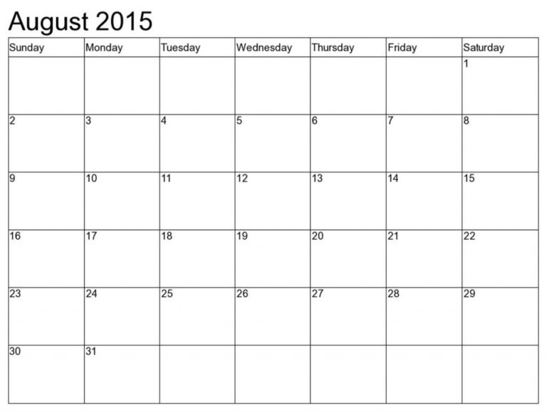 Printable Calendar 8 X 11 | Printable Calendar 2019_8 X 11 8 X 11 Calendar Template