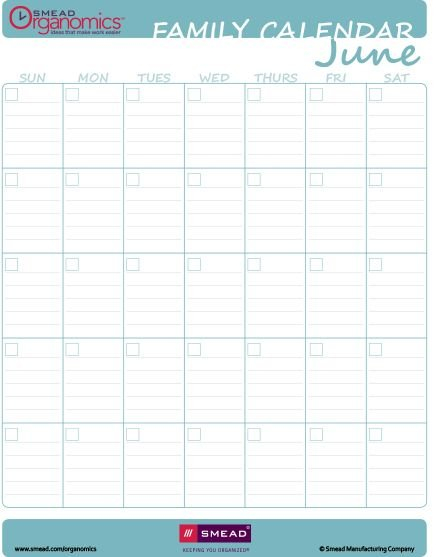 Printable Calendar - Blank Fill-In For Any Year - Extra Blank Lined Calendar To Print
