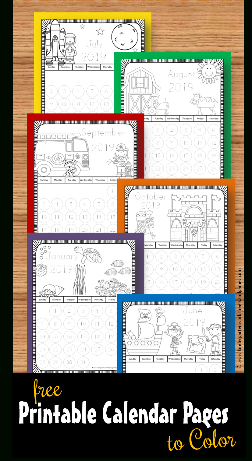 Printable-Calendar-Pages-To-Color-Toddler-Preschool Free Color Coded School Calendar Template