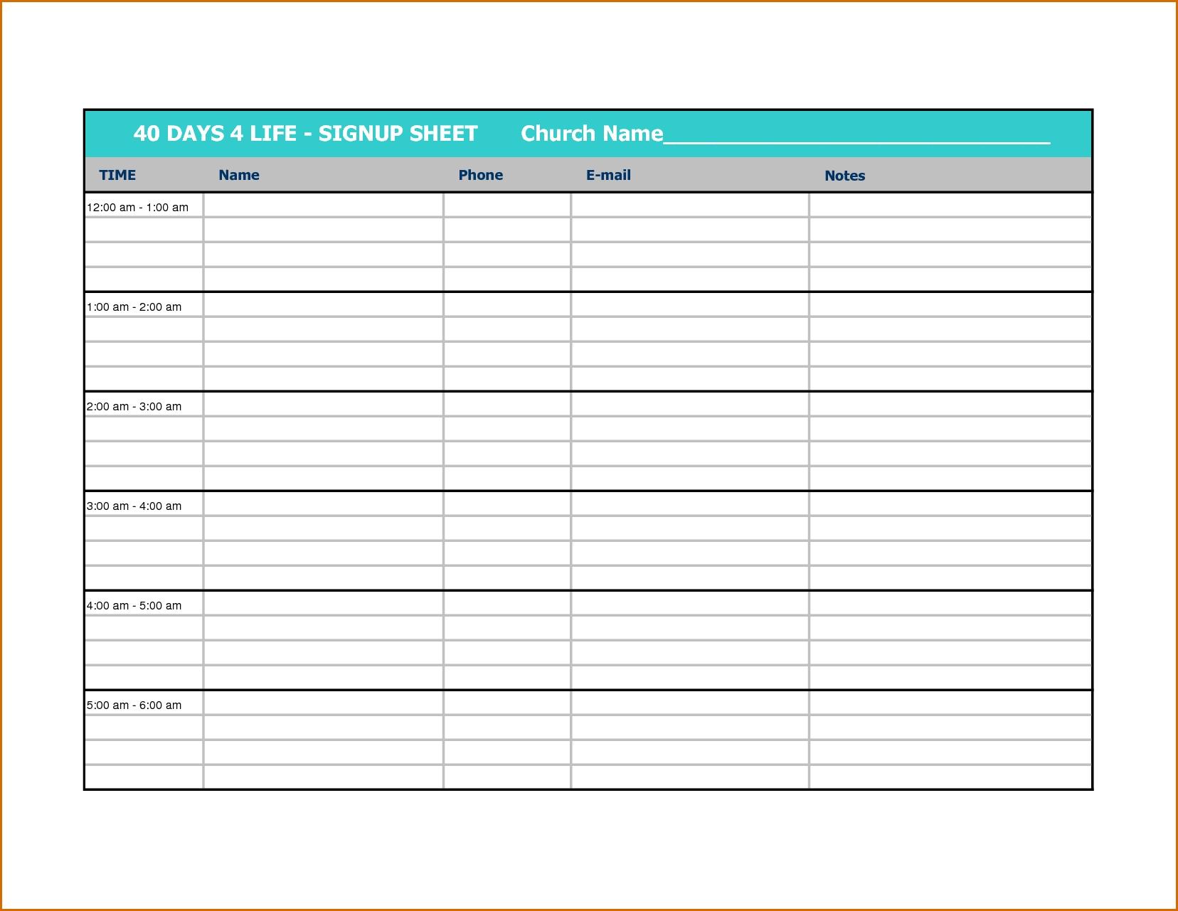 Printable Calendar Sign Up Sheet | Ten Free Printable Fillable Birthday Calendar Template Excel