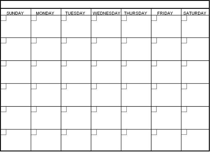 Printable Clalendar Templates | Blank Calendar Template 5 Ay Free Calendar