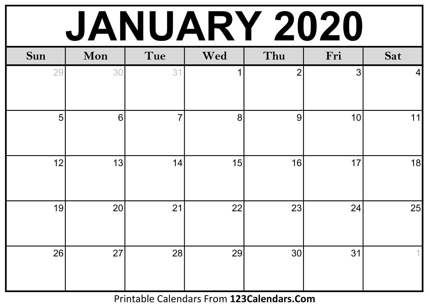 Printable Fill In Calendar For 2020 - Calendar Inspiration Free Caolendar To Fill In Online