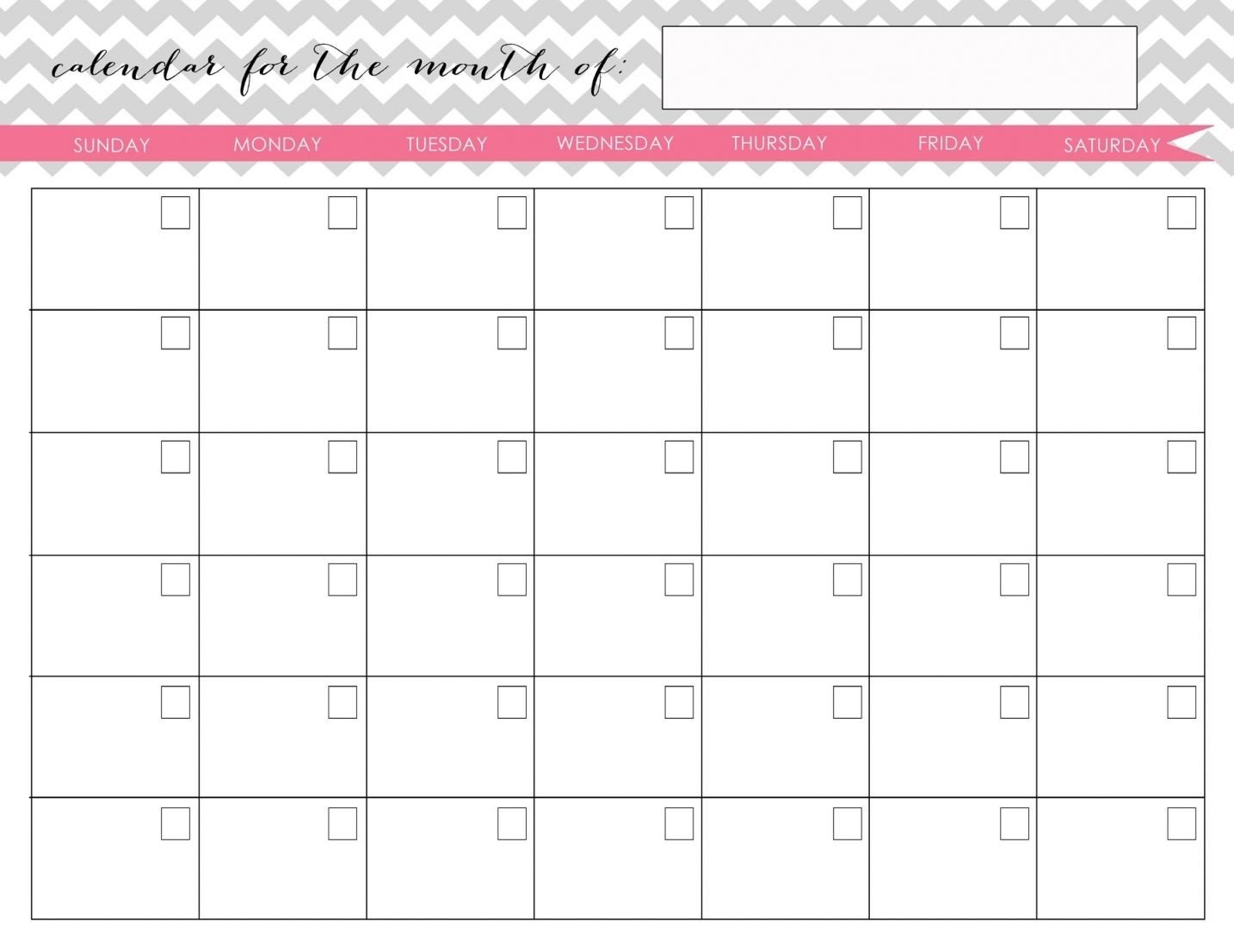 Printable Fill In Calendarmonth | Calendar Template Fill In Calendars To Print