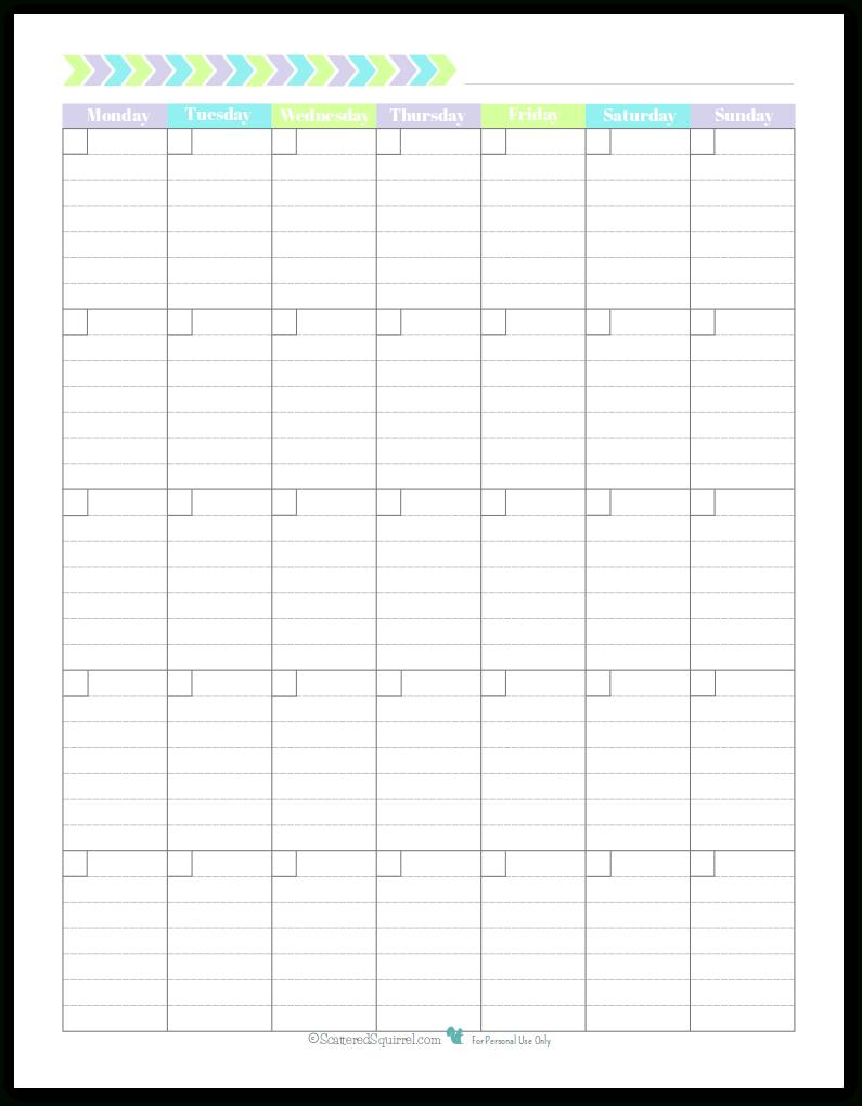 Printable Lined Monthly Calendar   Calendar For Planning Free Lined Calendar Templates Printable