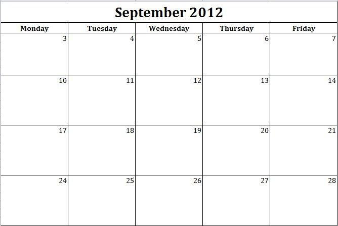 Printable Monday Through Friday Template - Bing Printable Weekly Calendar Monday Through Friday