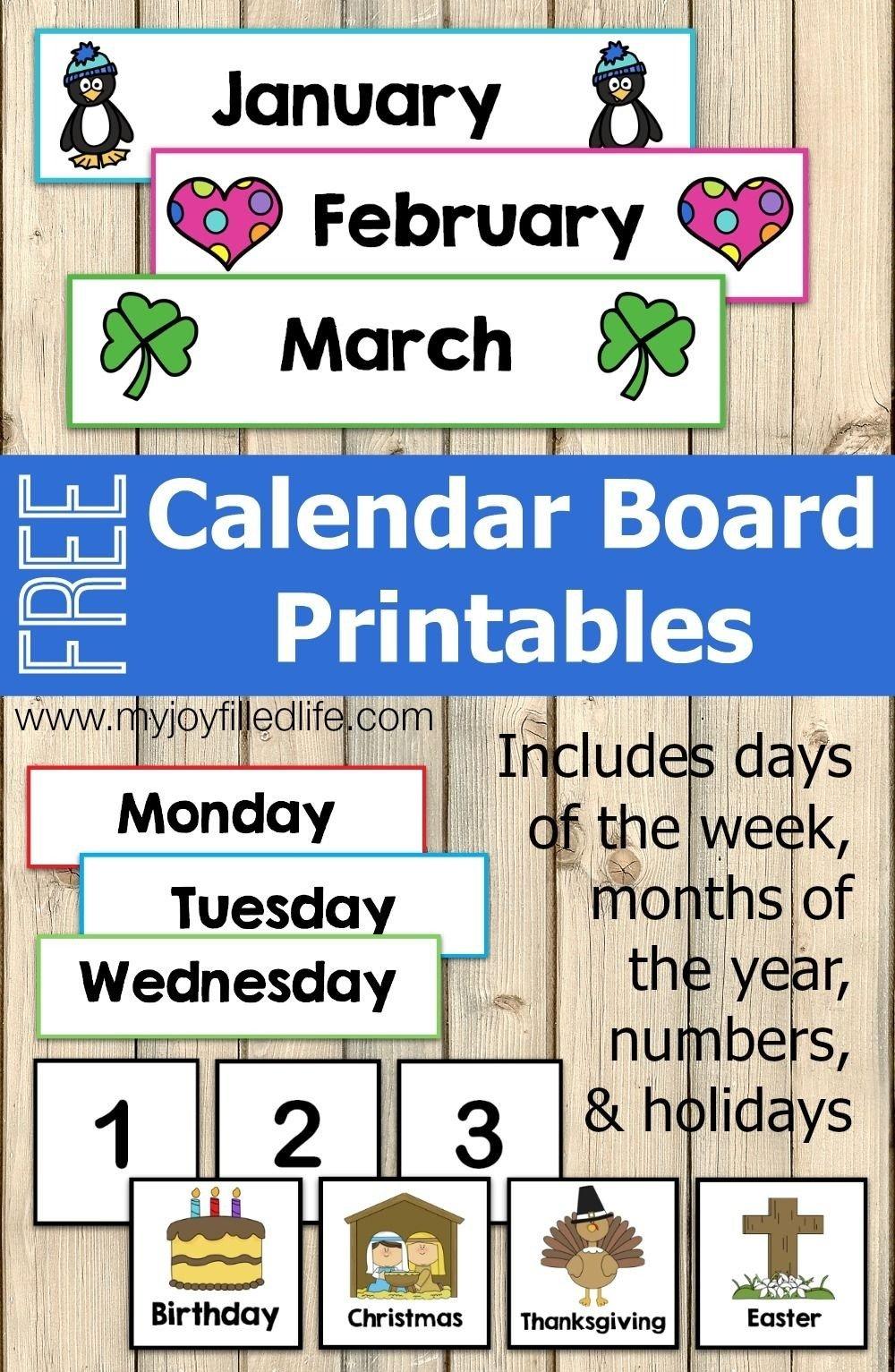 Printable Monthly Calendar For Pre-K | Calendar Template Free Editable Preschool Calendar Template