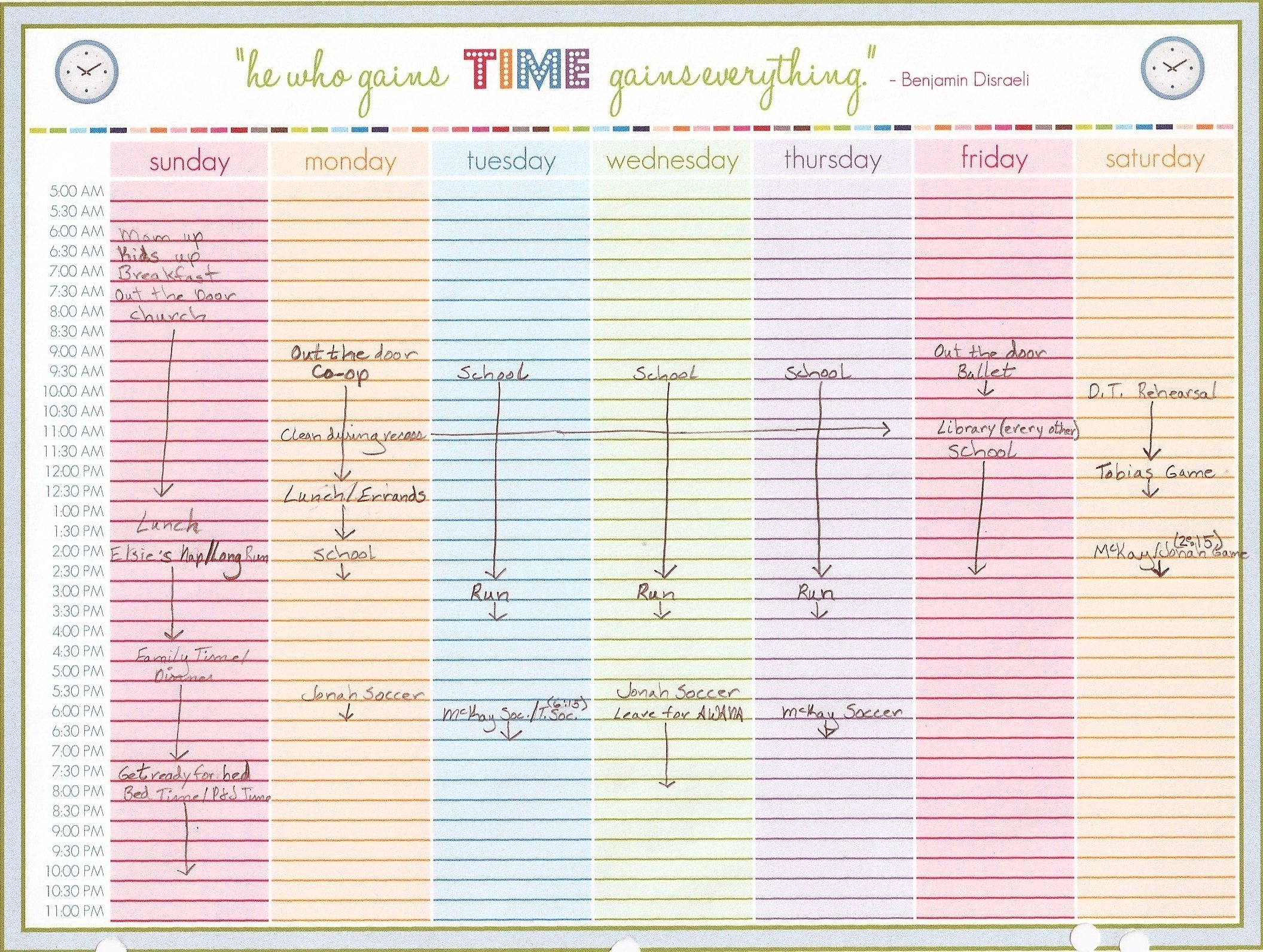 Printable Monthly Calendar With Time Slots - Calendar Printable Calendar With Hourly Slots