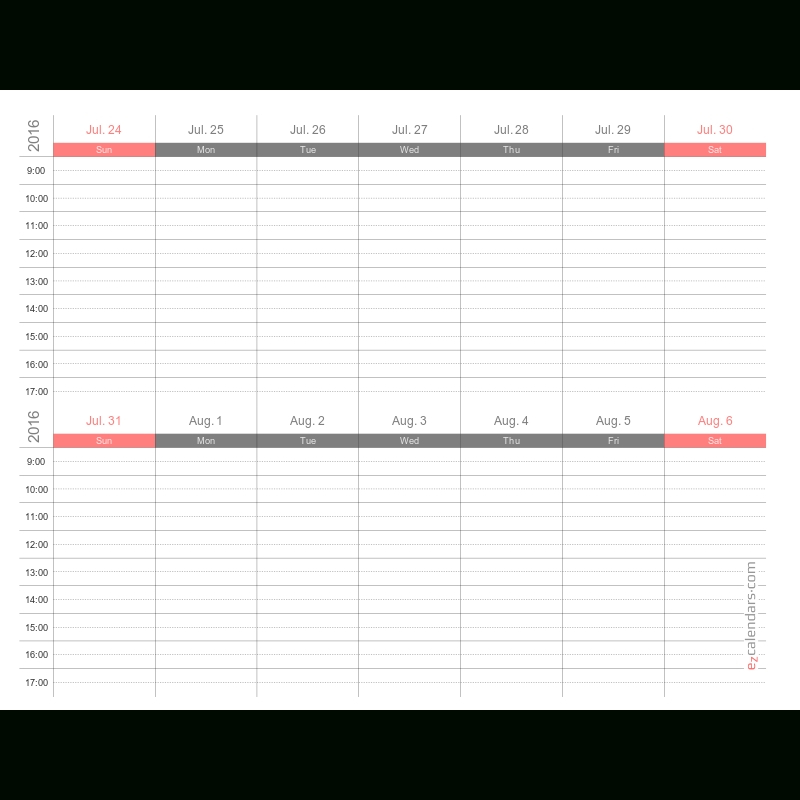 Printable Monthly Calendar With Time Slots Photo Monthly Calendar With Time Slots Template