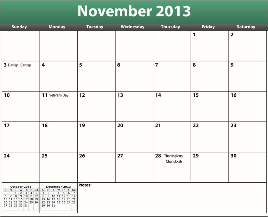 Printable Pdf November 2013 Calendar Diabeic Calenders To Write On Then Print It Out'