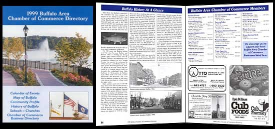 Printwork: Magazines: 1999 Buffalo Chamber Directory 81/2 X 11 Calenar Pages