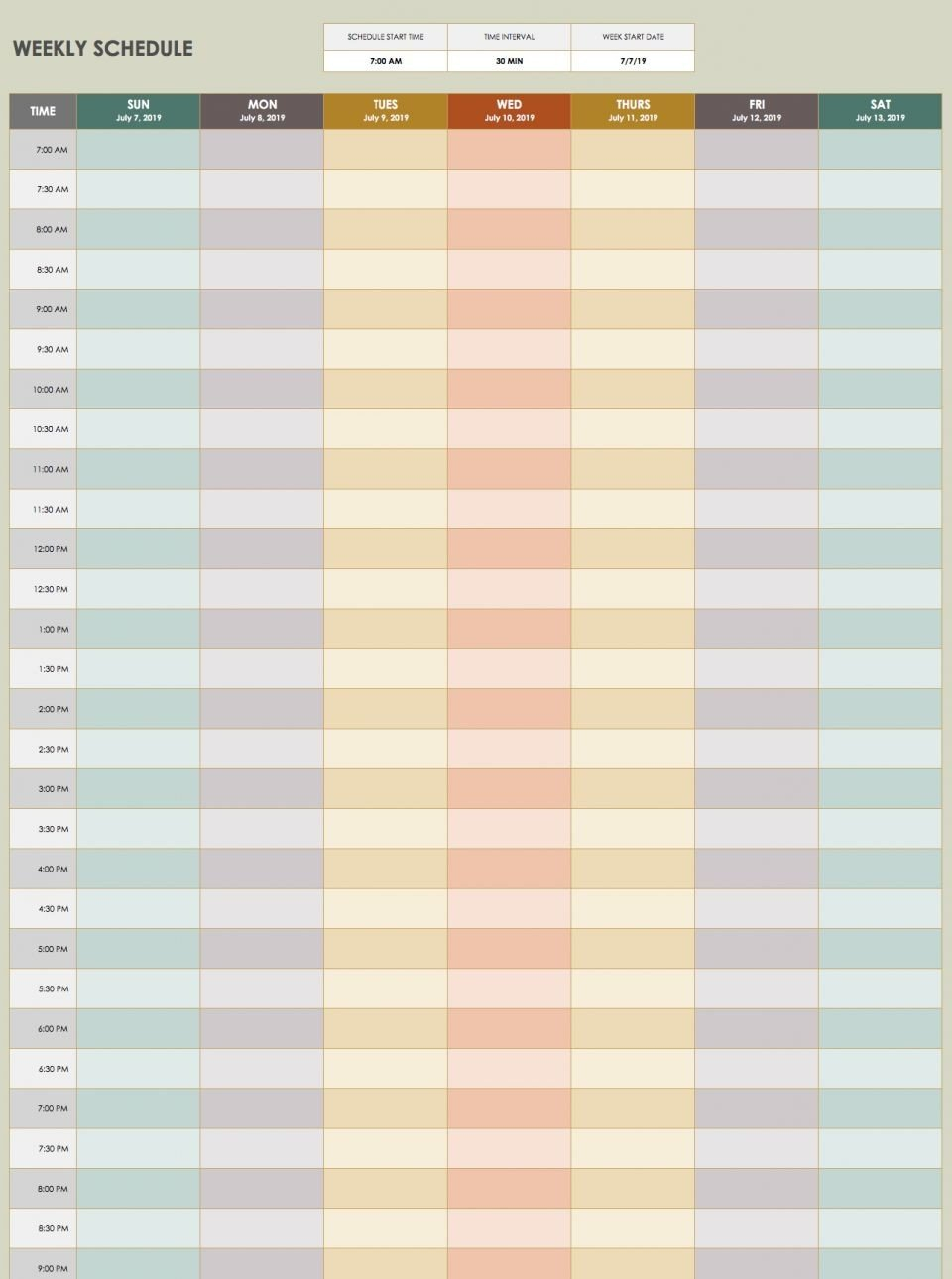 Schedule Template Time Ten Ways On How To Get The Most Free Time Management Calendar