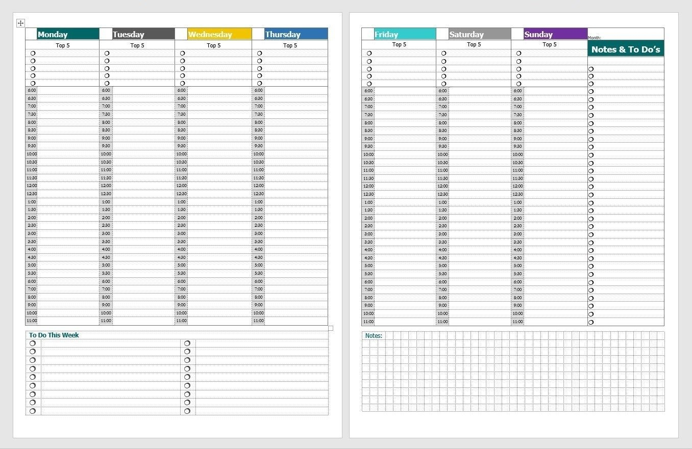 Schedule With Time Slots 6 Am - Calendar Inspiration Design 2 Day Calendar With Time Slots