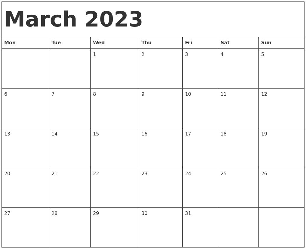 "Search Results For ""Printable Calendars Monday Start No Frills Printable Calendar"