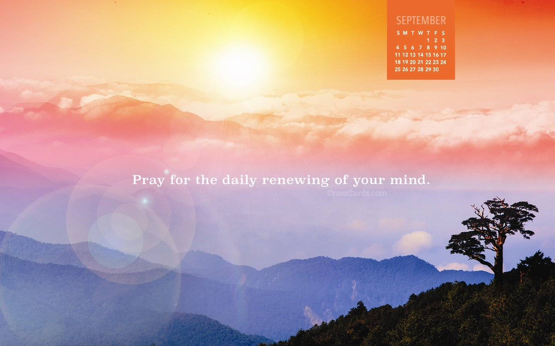 September 2016 - Daily Renewing Desktop Calendar- Free Crosscards Monthly Calendar For Desktop