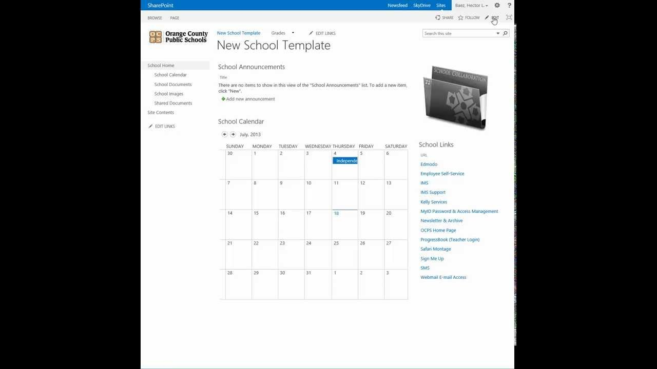 Sharepoint - Change The Calendar View To A List View - Youtube Calendar I Can Modify