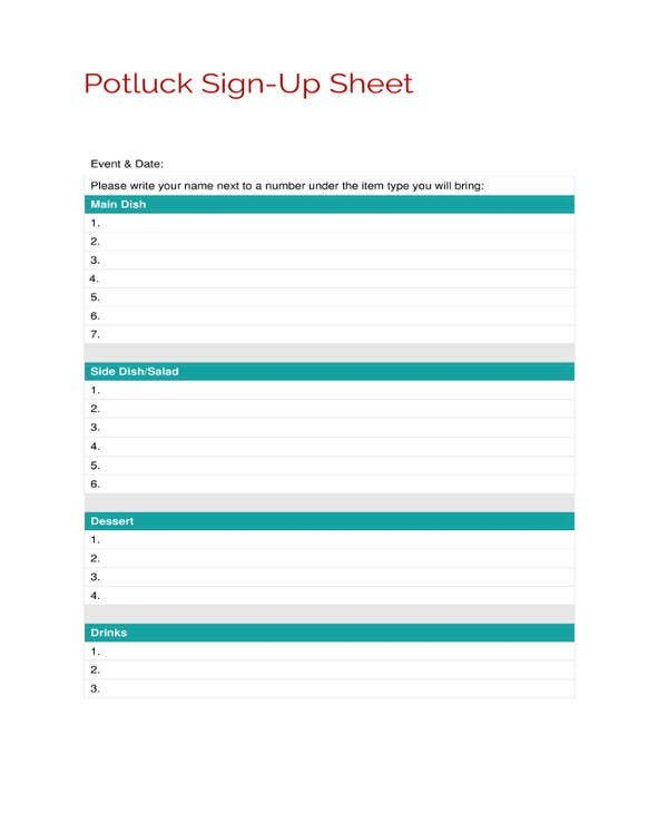 Sign Up Sheets - 58+ Free Word, Excel, Pdf Documents On Callalendar Sign Up Template
