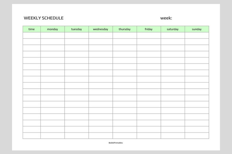 Simple Weekly Schedule Printable Printable Two Week Schedule