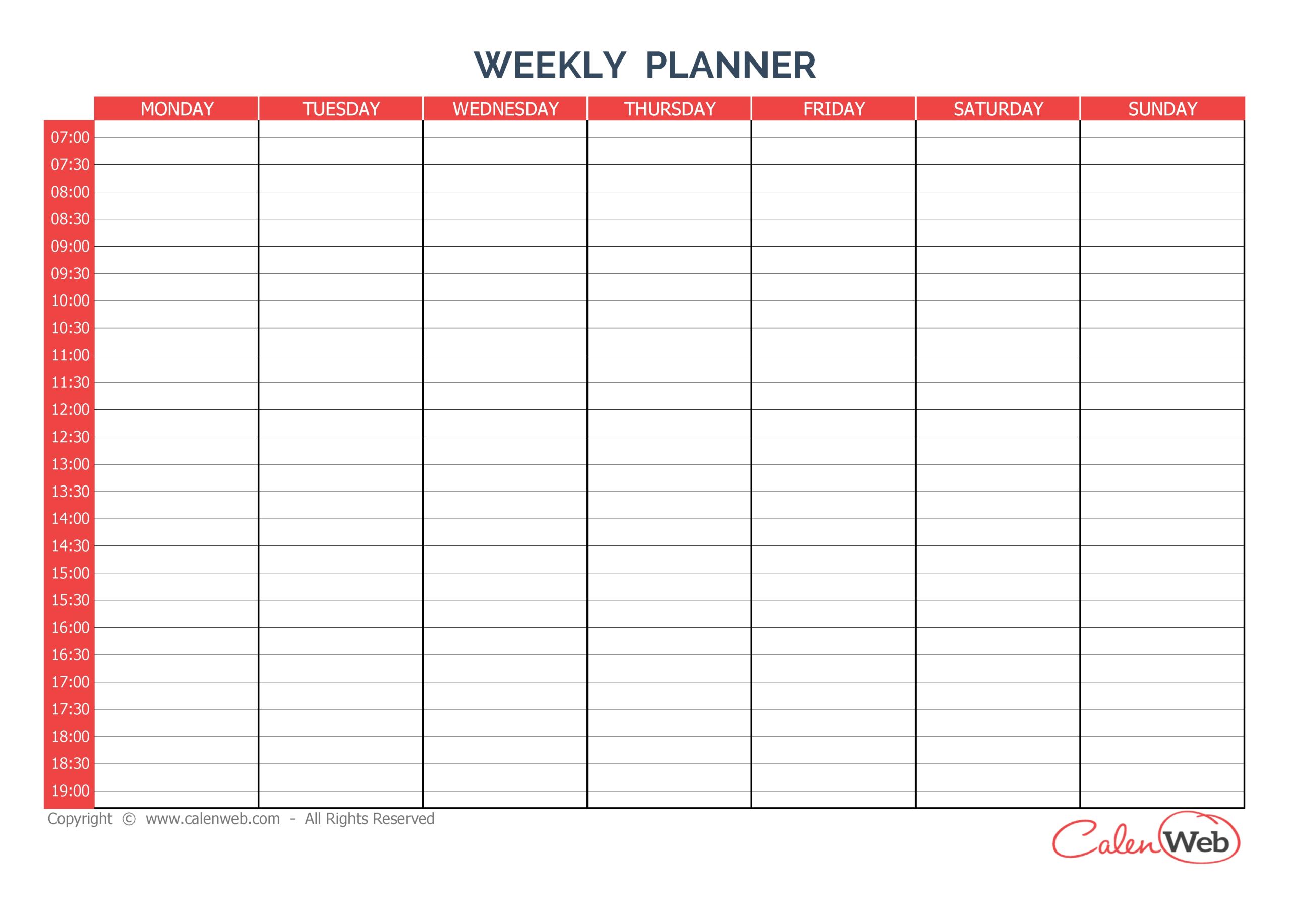 Sunday Through Saturday Calendar   Calendar Printables Word Calendar Template Monday - Sunday