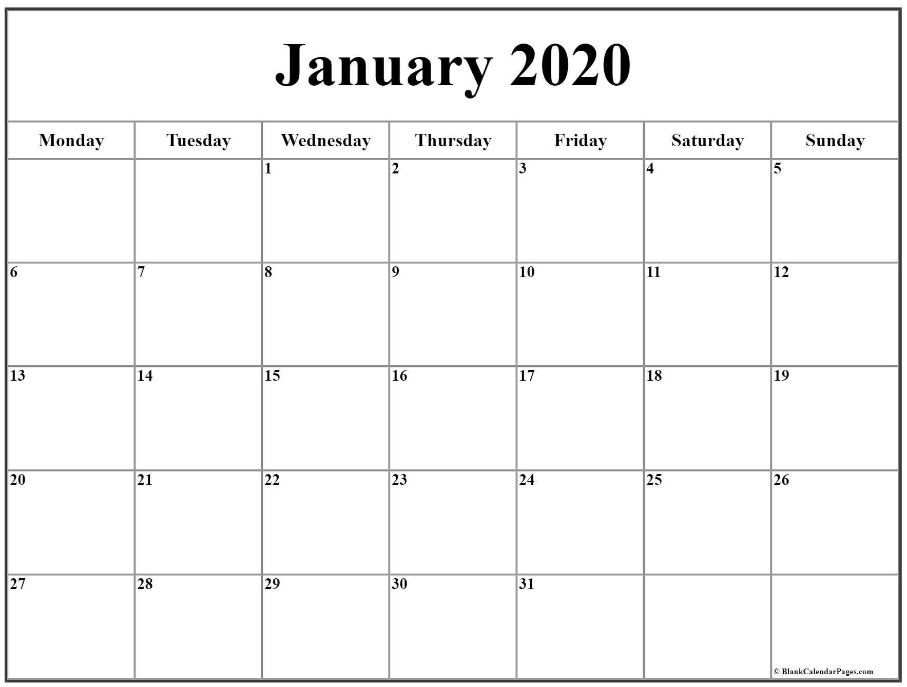 The Free Printable Monday Thru Sunday Calendars | Get Your Free Printable Calendars By Month Monday Through Sunday