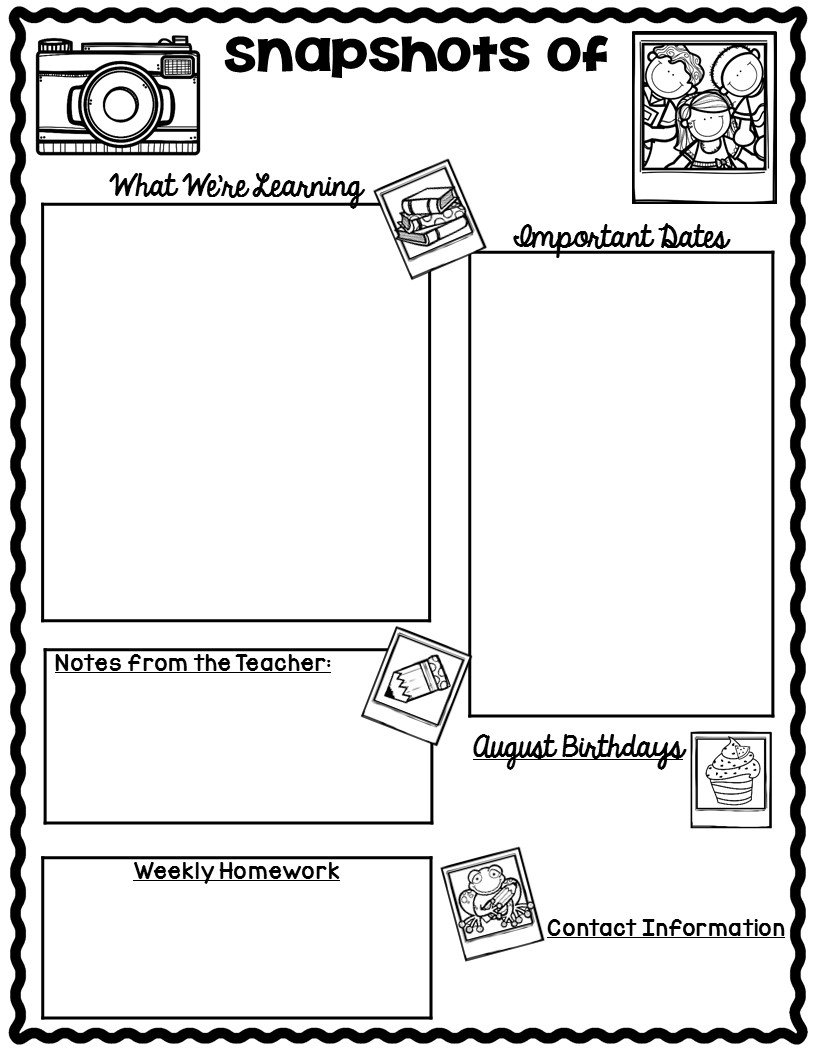 *The Teaching Oasis*: Monthly Calendars And Newsletter Free Calendar Templates For Teachers