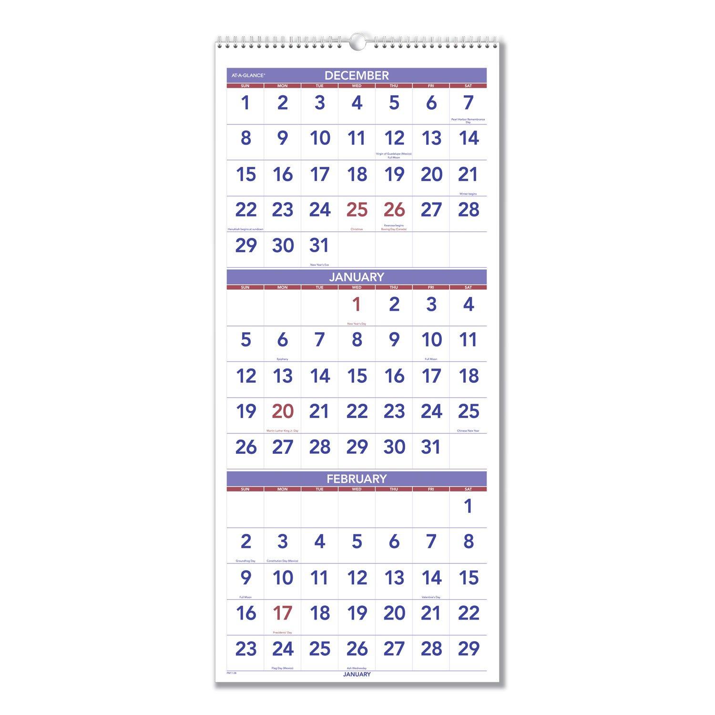 Three Month At A Glance Printable Calendar | Example 3 Month Calendar Free Printable