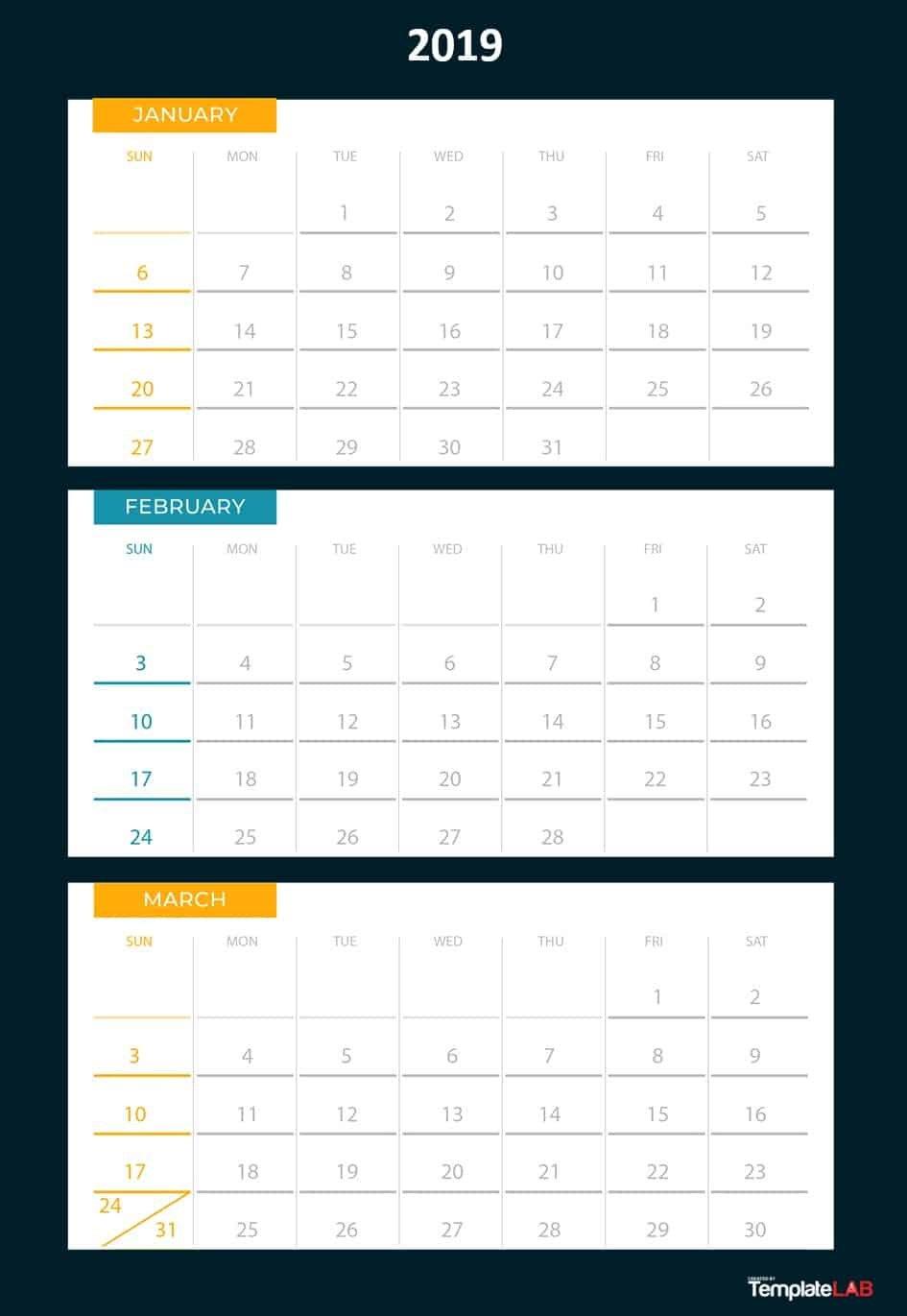 Three Month At A Glance Printable Calendar | Example Free Printable Calendars By 3 Months