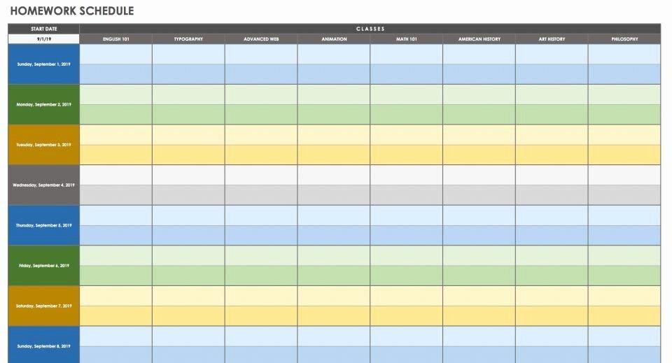 Time Management Schedule Template Unique 28 Free Time Free Time Management Calendar