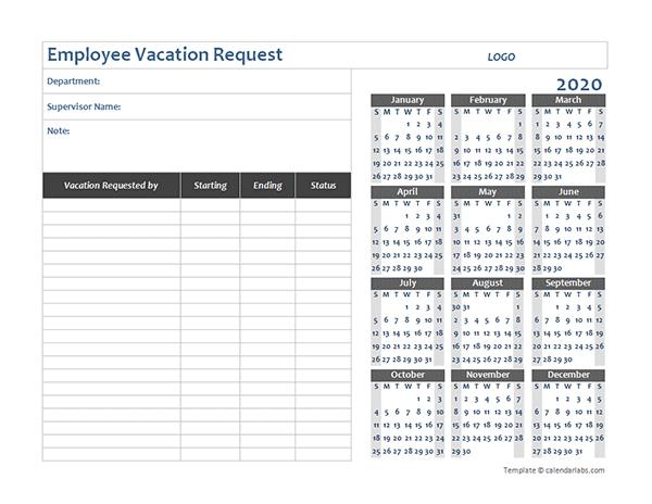 Time Off Calendar Excel Graphics | Calendar Template 2020 Free Template For Employee Time Off Calendar