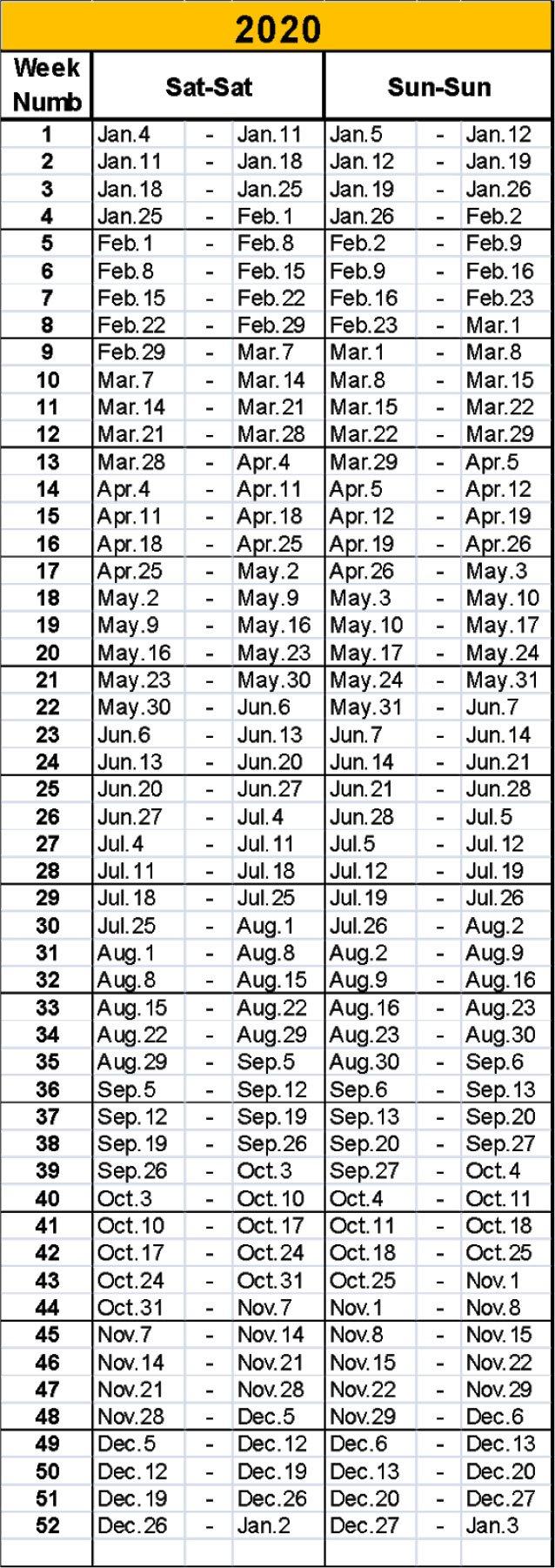 Timeshare Calendar 2020 | Free Printable Calendar Printable 2020 Calendar Free Saturday To Friday