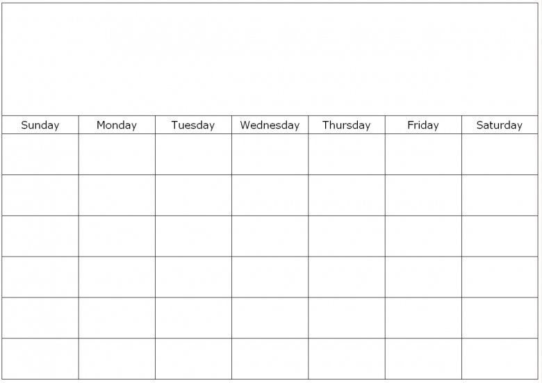 To Fill In Blank Calendar :-Free Calendar Template Printable Fill In Schedule