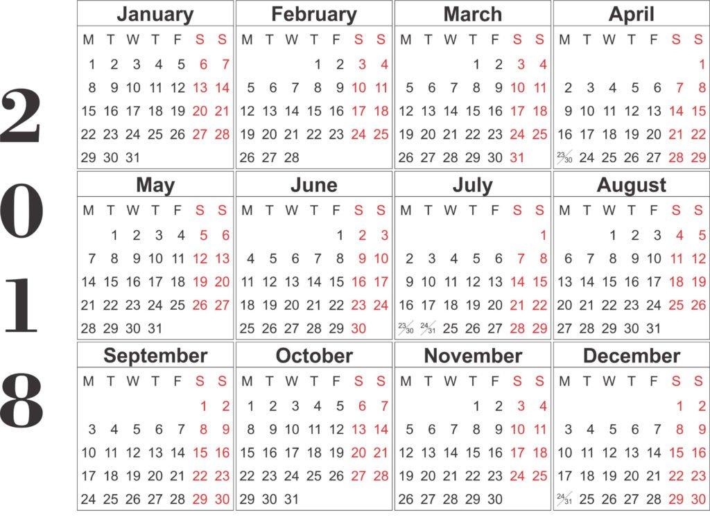 Top 15 Calendar 2018 Templates | Printable 2018 Calendar 8 X 11 Calendar Pages