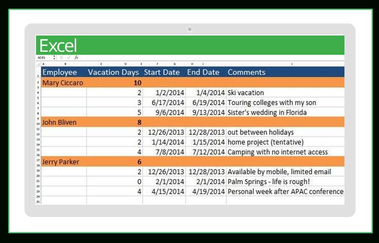 Top Excel Templates For Human Resources   Smartsheet Human Resource Vacation Calendars