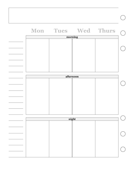 Two Page Weekly Calendar Template Printable Pdf Download Two Week Calendar Form