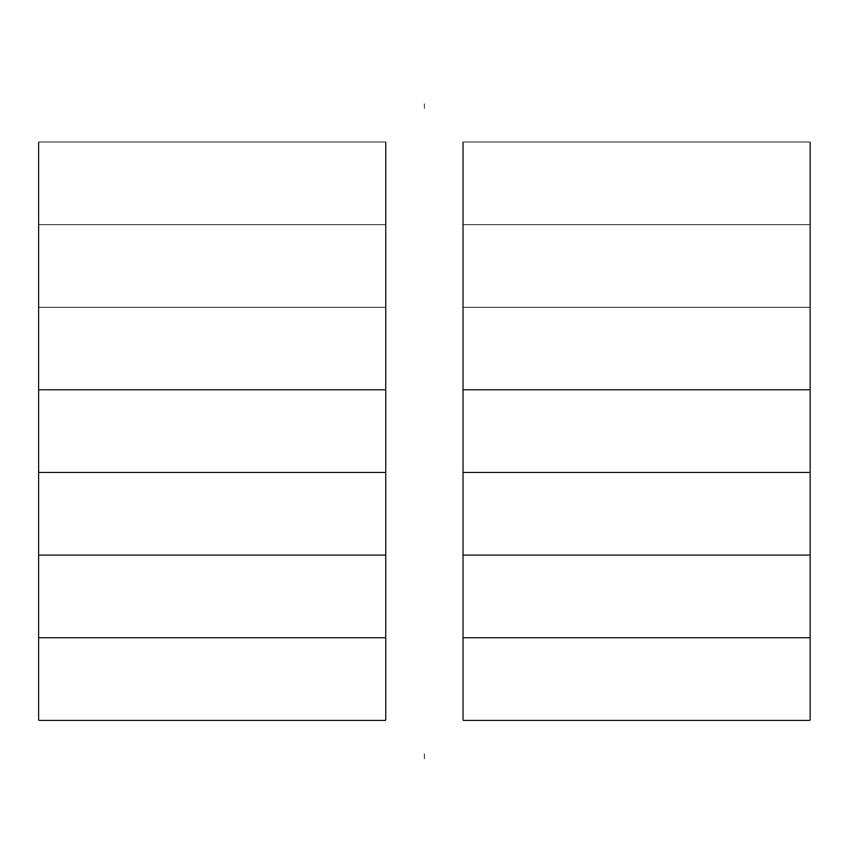 Two-Week Calendar (Half Page) Free Download Two Week Calendar Form