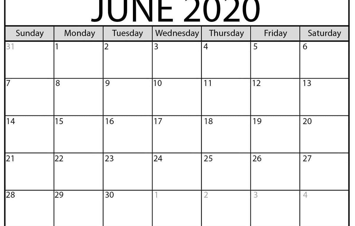 United Methodist 2020 Calendar With Holidays - Template Large Fill In Calendar