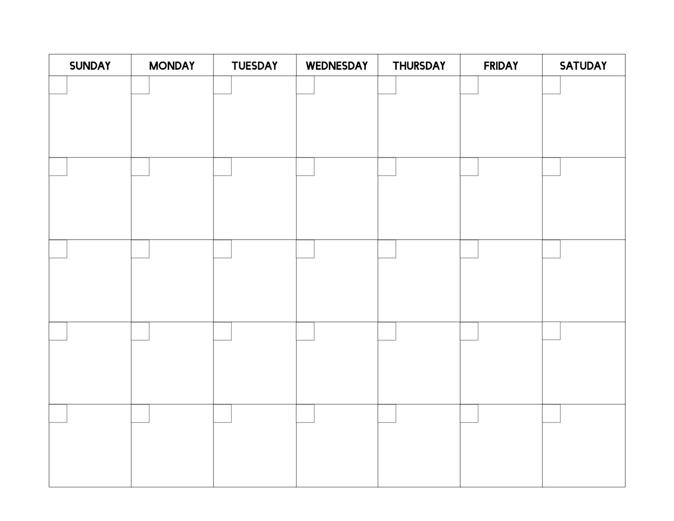 Universal Free Fill In Calendars In 2020 | Printable Blank Fill In And Print Calendars