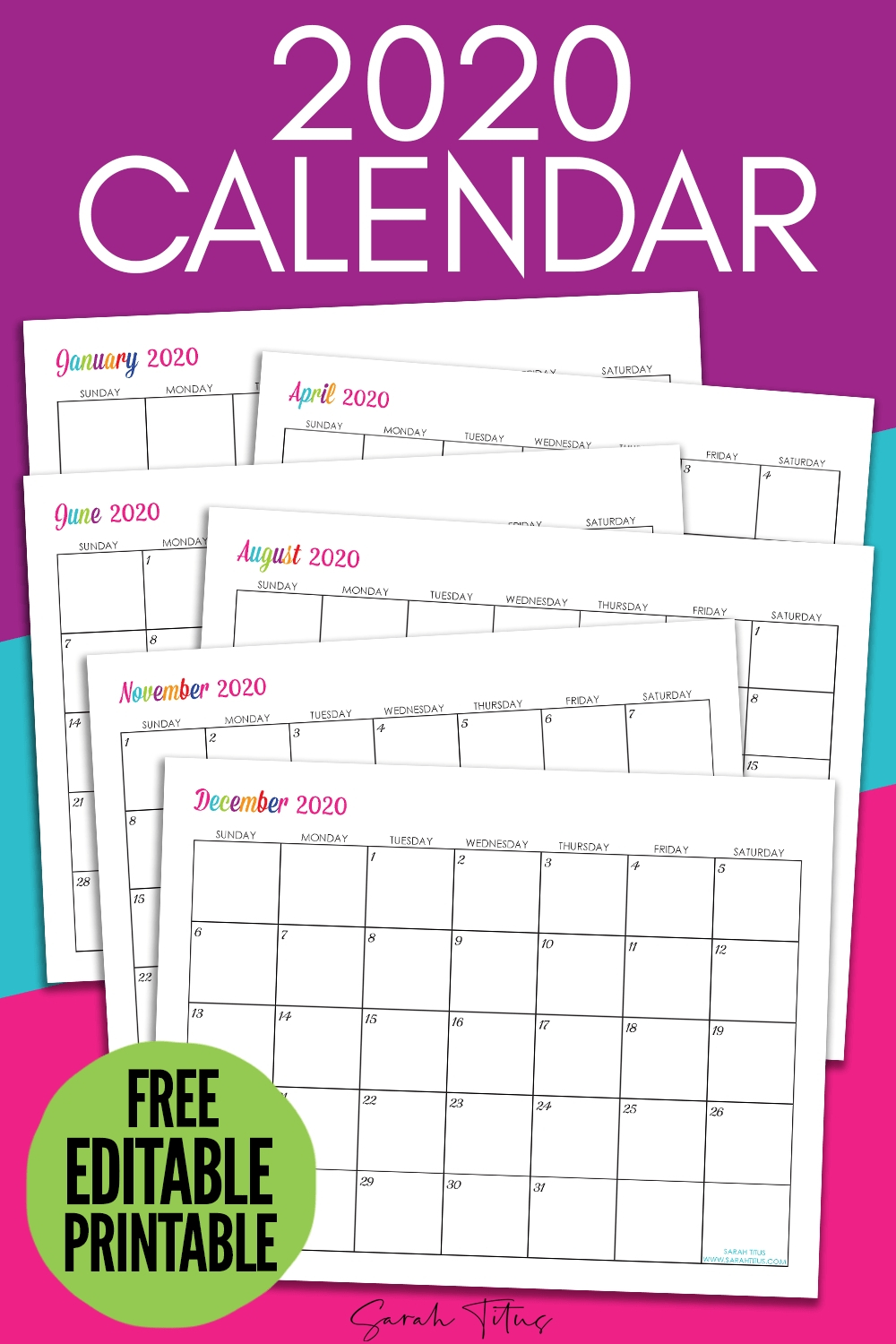 Universal Monthly Calendars You Can Edit | Get Your Blank Calendar I Can Edit