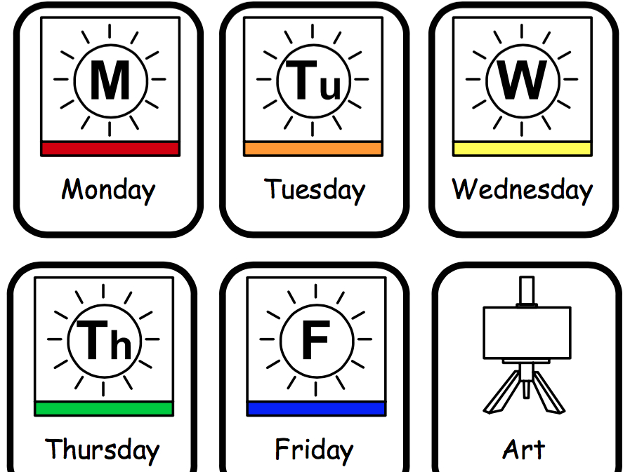 Visual Timetable - Communication In Print   Teaching Resources One Week Monday Through Saturday Communication Calendar