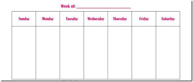 Weekly Calendar Fill In - Printable Week Calendar Free Fillable Weekly Schedule