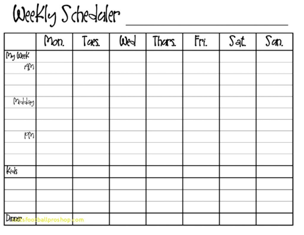Weekly Calendar Template Monday To Friday | Example Printable Weekly Calendar Monday - Friday
