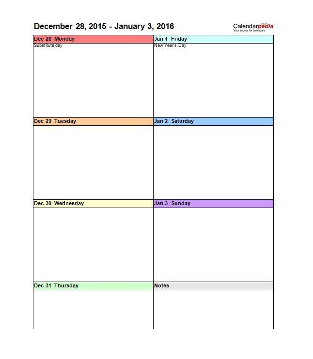 Weekly Calendar Vertical - Calendar Printable Week Free Lined Calendar Templates Printable