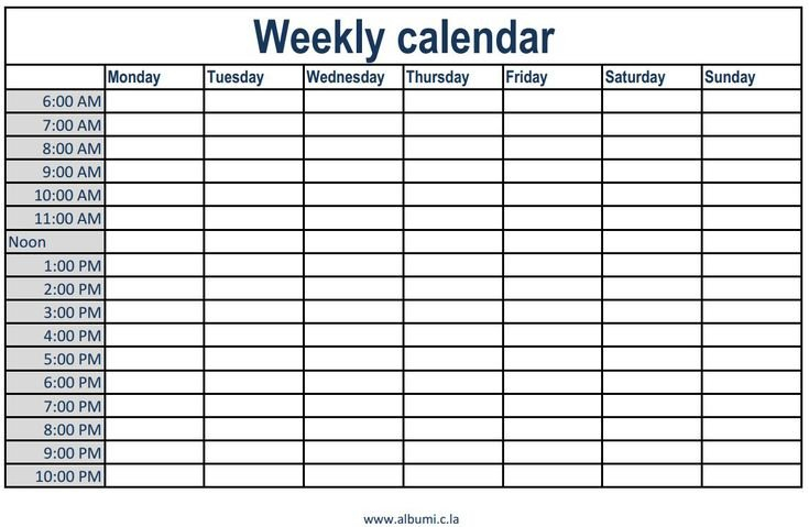Weekly-Calendar-With-Time-Slots-Excel-Calendar-Template Weekly Printable Calendar With Time Slots Free
