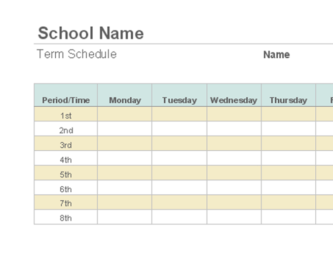 Weekly Employee Shift Schedule School Time Schedule Exercise Fill Blanks