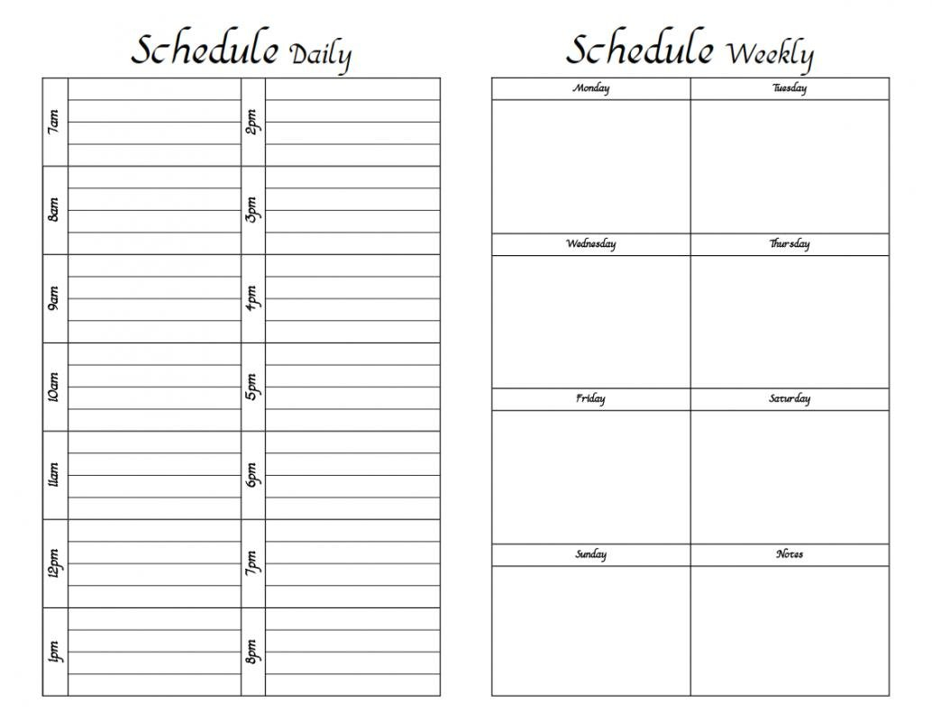 Weekly Hourly Schedule Template | Shatterlion Daily Calendar With Hours Printable